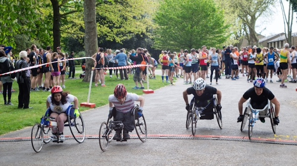 Start of the 2014 Victoria Park Open 5 Wheelchair Race