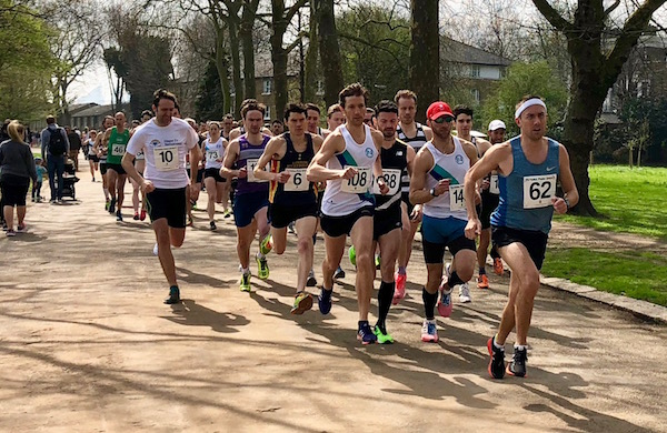 Start of the 2018 Victoria Park Open 5 miles