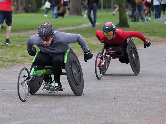 Start of the 2019 Victoria Park Open 5 miles wheelchair race